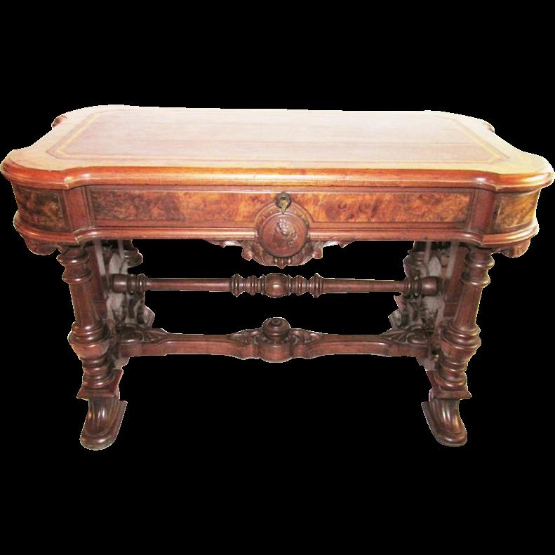 Renaissance Revival Museum Quality Library Table