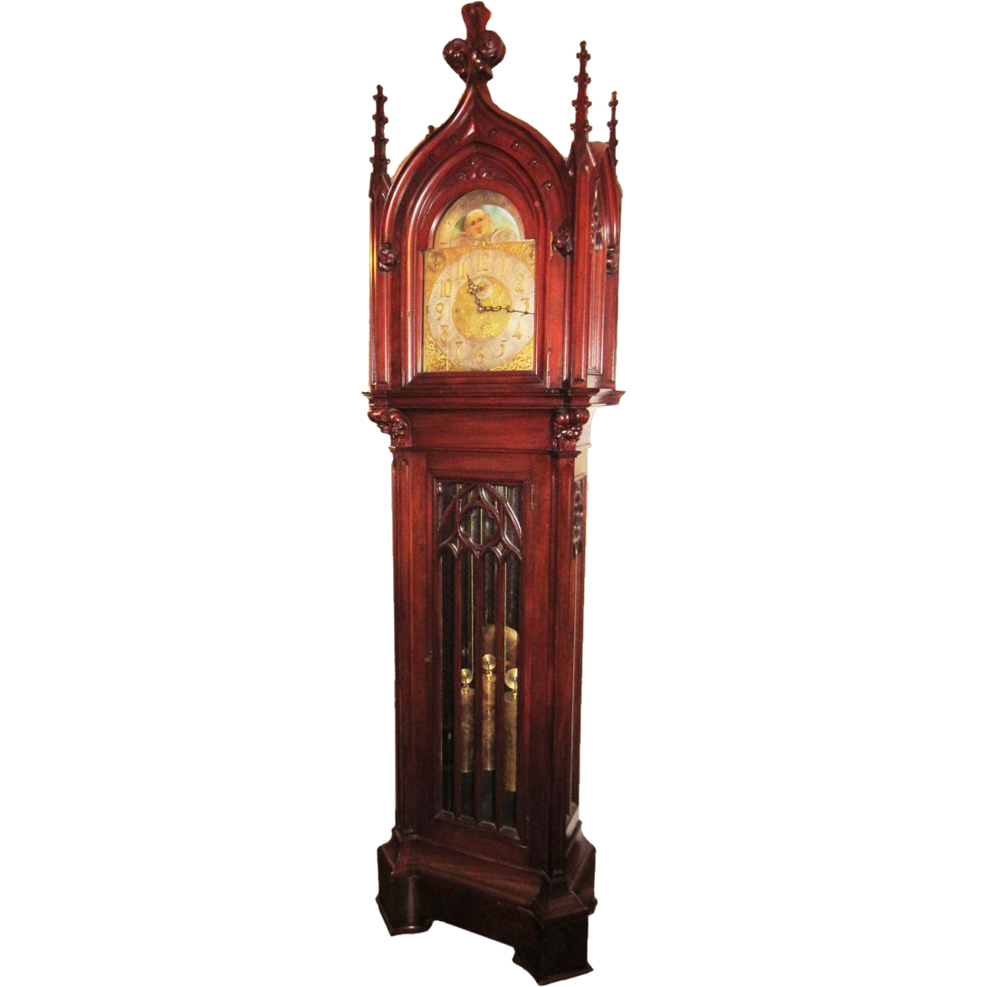 Herschede Gothic 9 Tube Chiming Grandfather Clock
