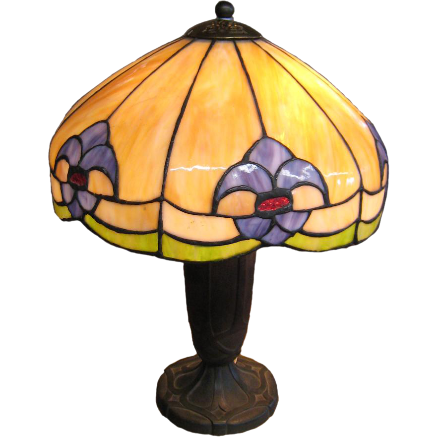 Bradley Hubbard Art Glass Table Lamp