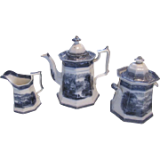 California By Wedgwood Flow Blue/Mulberry Teaset