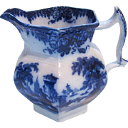 Flow Blue China Rhone Ironstone 2 Quart Water Pitcher
