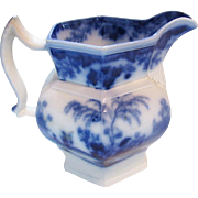 Scinde by Alcock Flow Blue China Ironstone Water Pitcher