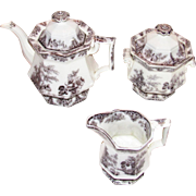 Bochara by Edwards Mulberry Ironstone Teaset