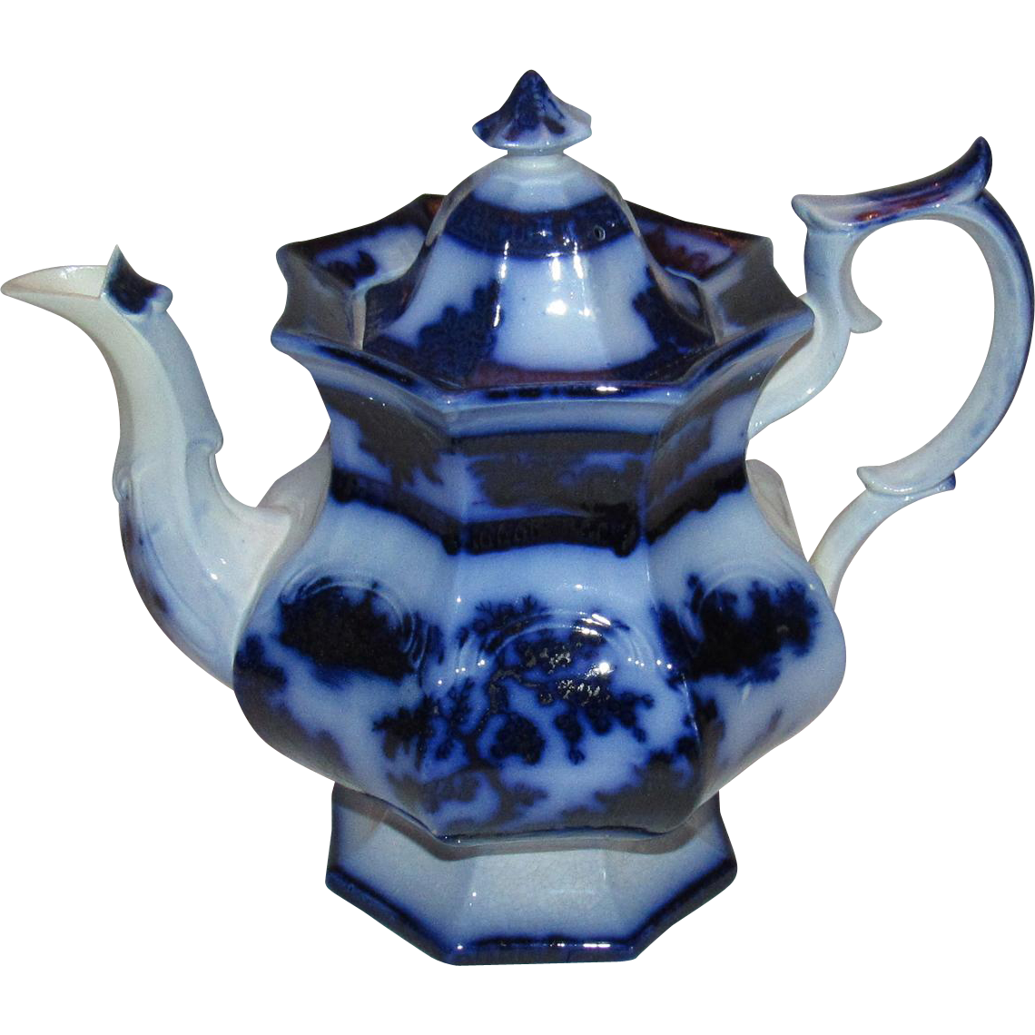 Jumbo Size Chapoo by Wedgwood Flow Blue Teapot.
