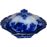 Scinde by Alcock Flow Blue Covered Vegetable Dish