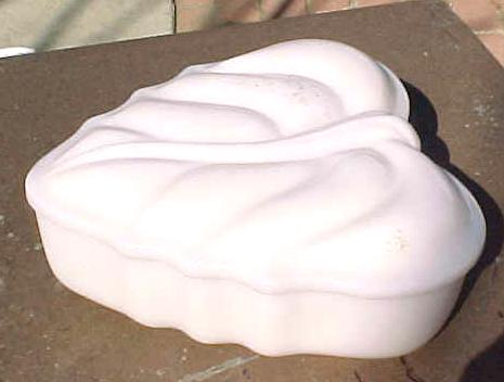 Milk Glass Heart Box Imperial Glass