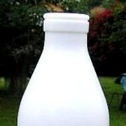 Milk Glass Fresh Milk Bottle with Cow E Giciu