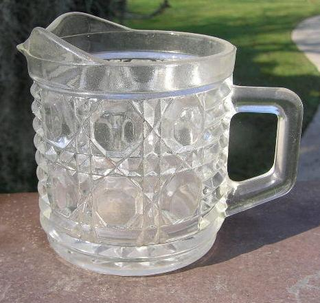 Crystal Block Creamer Early American Pattern Glass