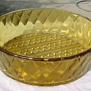 EAPG Amber Fine Diamond Cut Amber Bowl