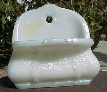 Milk Glass Doctor's Open Satchel or Suitcase Match Holder RARE