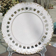 Victorian Deep Block Border Ribbon Plate.
