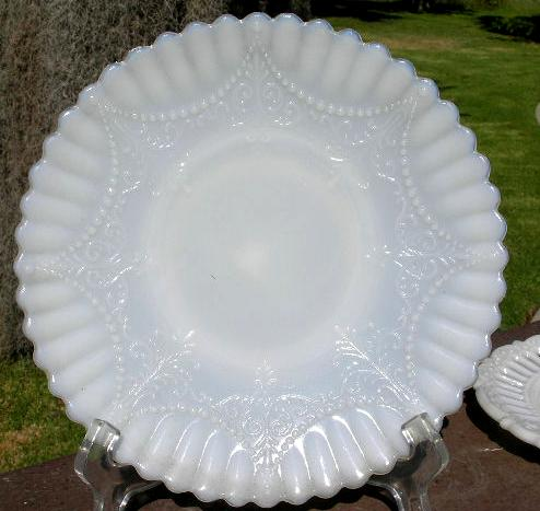 Milk Glass Decorative Plate