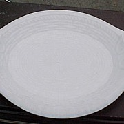 Milk Glass Bread Tray Atterbury Glass 1874