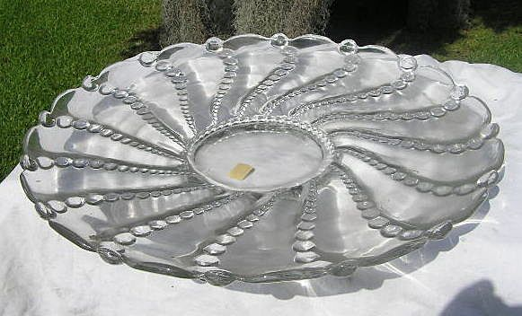Columbia large Plate by Heisey Glass