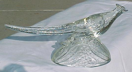 Crystal Ringneck Pheasant Figurine KR. Haley Glass 1947