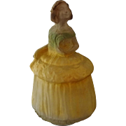 Tiffin Colonial Lady Girl Figural Lamp 1923 United States Glass Co