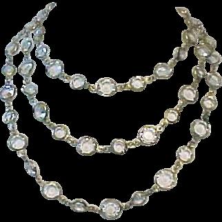 """CHANEL, France 1981 48"""" Crystal Sautoir Necklace"""