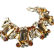 JULIANA 'Colorado Topaz' and 'Black Diamond' Crystals 5-Link Bracelet