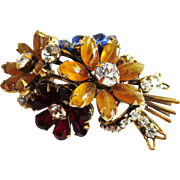 IRADJ MOINI Semi-Precious Stones Floral Bouquet Pin