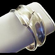 ANTONIO PINEDA 970 Sterling Hinged Modernist Clamper Cuff Bracelet