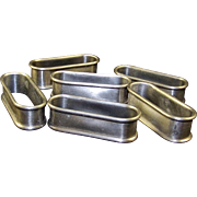 Six PREISNER PEWTER Modernist Napkin Rings - Red Tag Sale Item