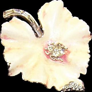TRIFARI 'Alfred Philippe' Enamel Leaf Pin with Diamante Bug