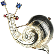 TRIFARI 'Alfred Philippe' Lucite Jelly Belly 'Fairyland Snail' Pin