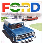 1958 FORD Panel Delivery TRUCKS Sales Brochure