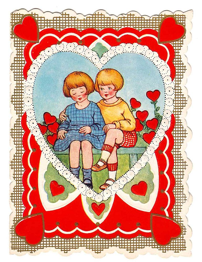 Vintage VALENTINE - 'Bobbed-Hair Pair' - Whitney Made c.1920s