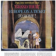 1962 Ad - PAN AM - 'Travelers Can 'Ground Tour' Europe on a Ticket to Rome!'