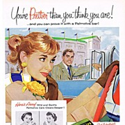 1956 Ad - PALMOLIVE Soap - 'You're Prettier than you think you are!'