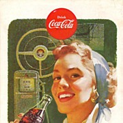1953 Ads - Coca-Cola COKE - 'Woman Driver' / BUDD Rail Diesel Cars (on reverse)