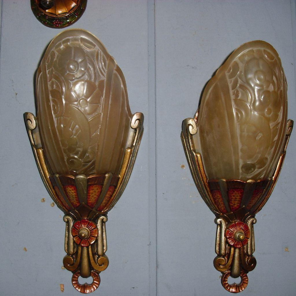 Lincoln Art Deco Slip Shade Wall Sconces- 2 available