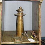 Cast Bronze Lighthouse Lamp - Night Light