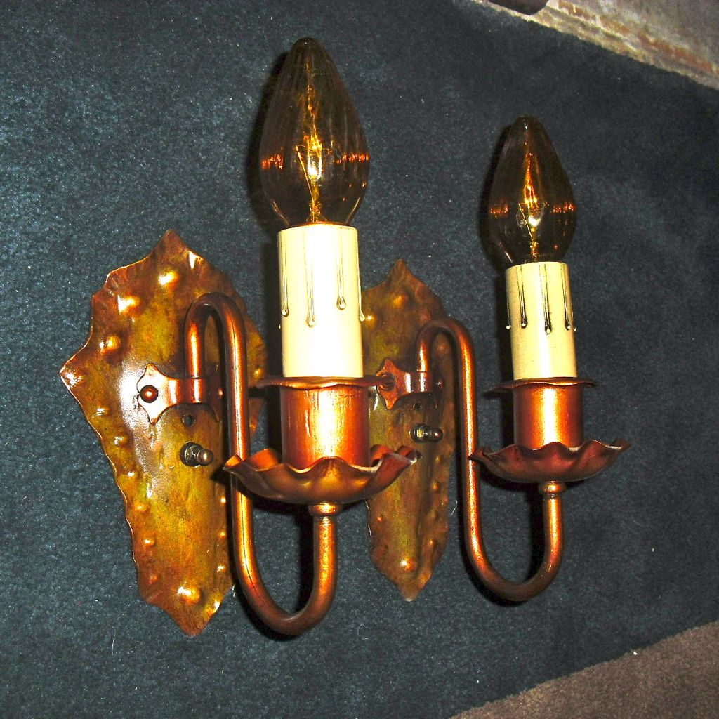 Spanish Revival Wall Sconces-Iron with Polychrome Finish