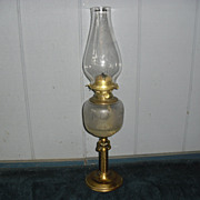Kerosene Oil Gimbaled Table Lamp/Wall Fixture Combination