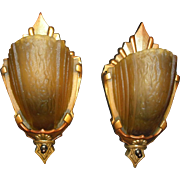 Markel Art Deco Slip Shade Wall Sconces