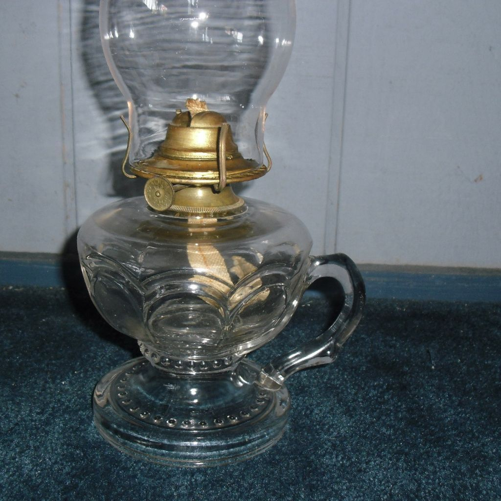 Riverside Kerosene Oil Footed Hand Lamp