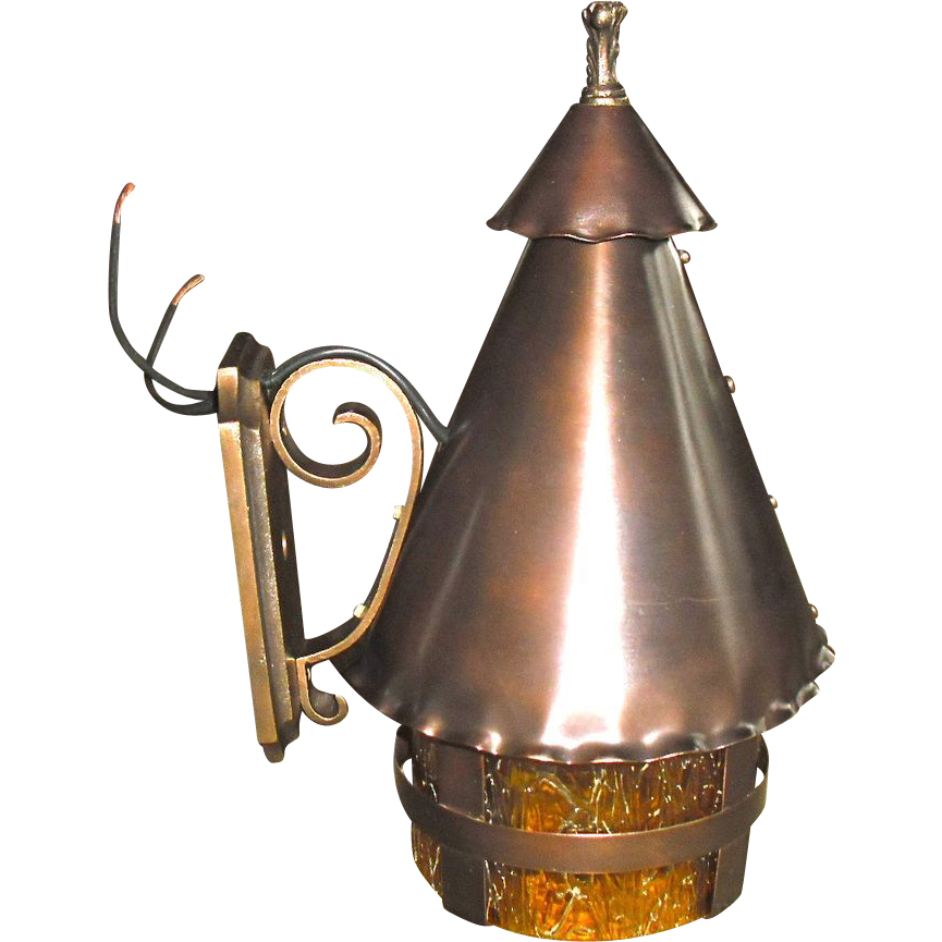 Tudor Copper and Cast Brass Porch Light