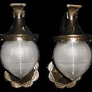 Arts & Crafts Bronze Porch Lights  Holophane Dental Shades