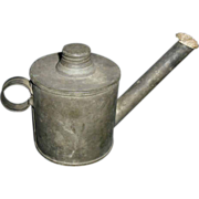 Early Tin Teapot Finger Oil Lamp