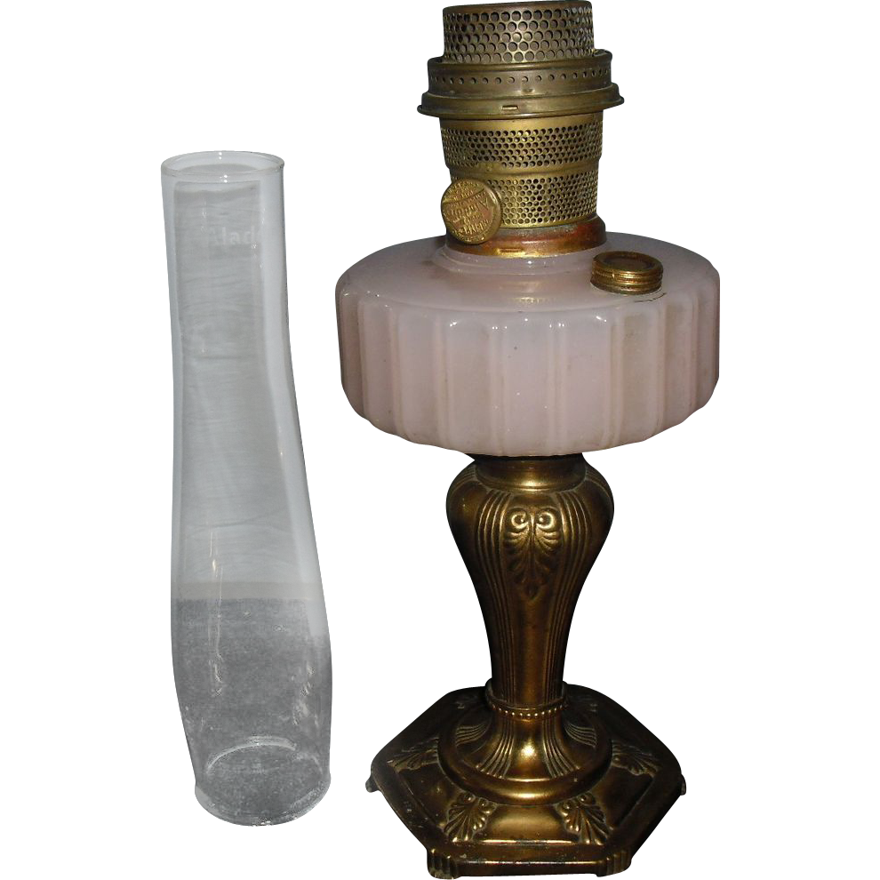 Aladdin Majestic Moonstone Rose Kerosene Oil Lamp