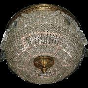 Superb Crystal Graduated Bead Dome Ceiling Light