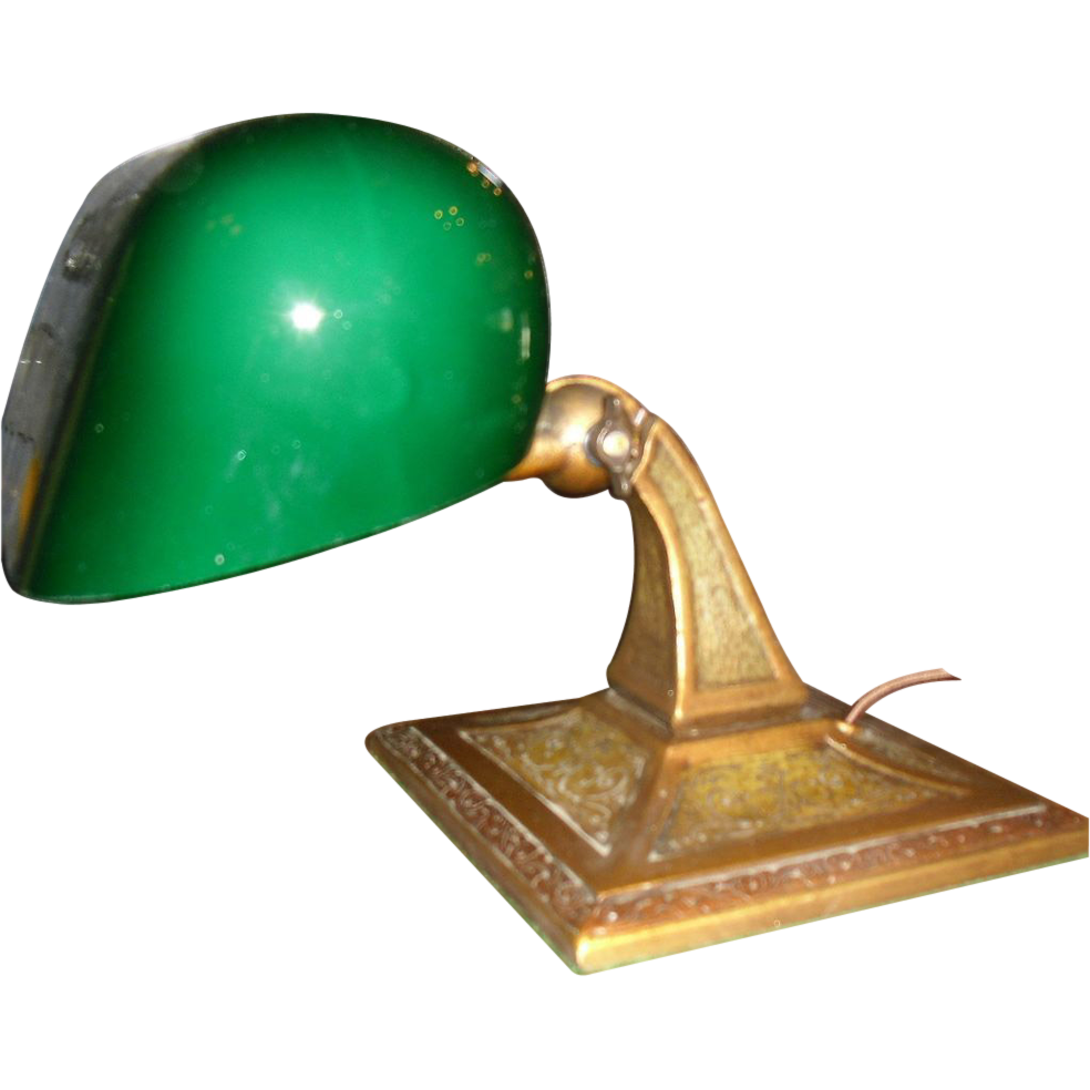 Aladdin adjustable desk lamp original green cased shade from roll over large image to magnify click large image to zoom geotapseo Image collections