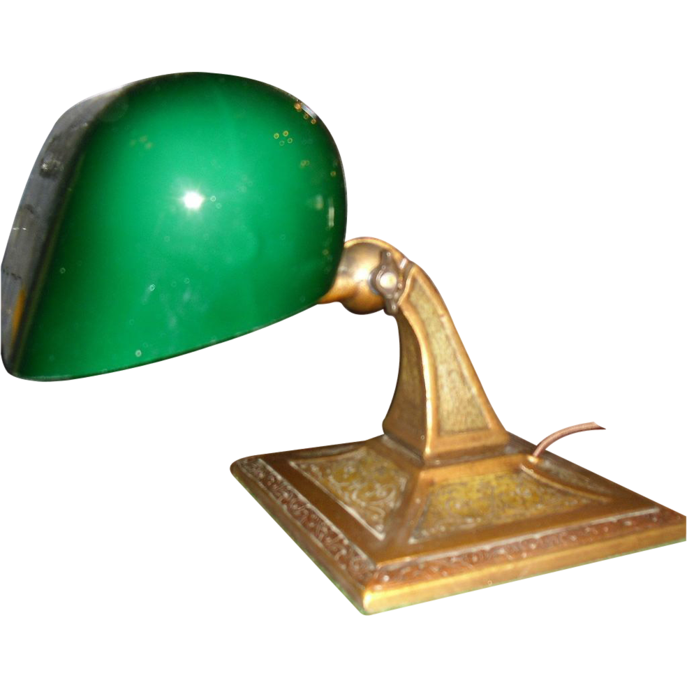Aladdin Adjustable Desk Lamp - Original Green Cased Shade