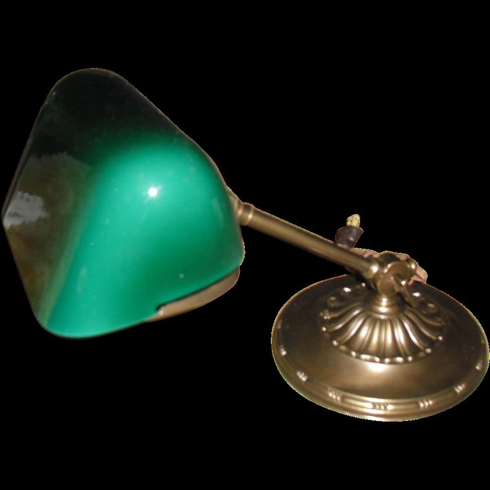 Emeralite Adjustable Desk Lamp - Original Green Cased Shade