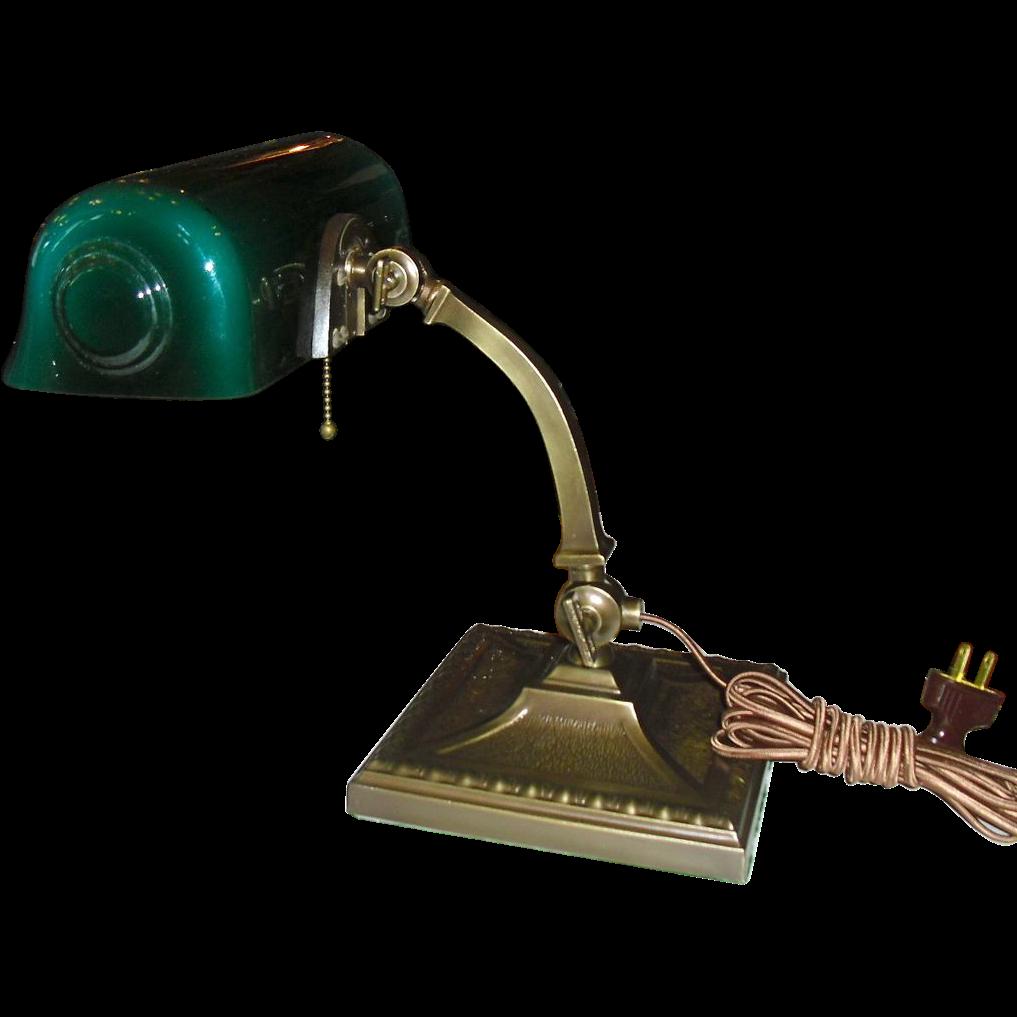Amronlite Adjustable Desk Lamp signed Green Cased shade from – Green Desk Lamp
