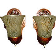Art Deco Slip Shade Wall Sconces - Max Schaffer Co.