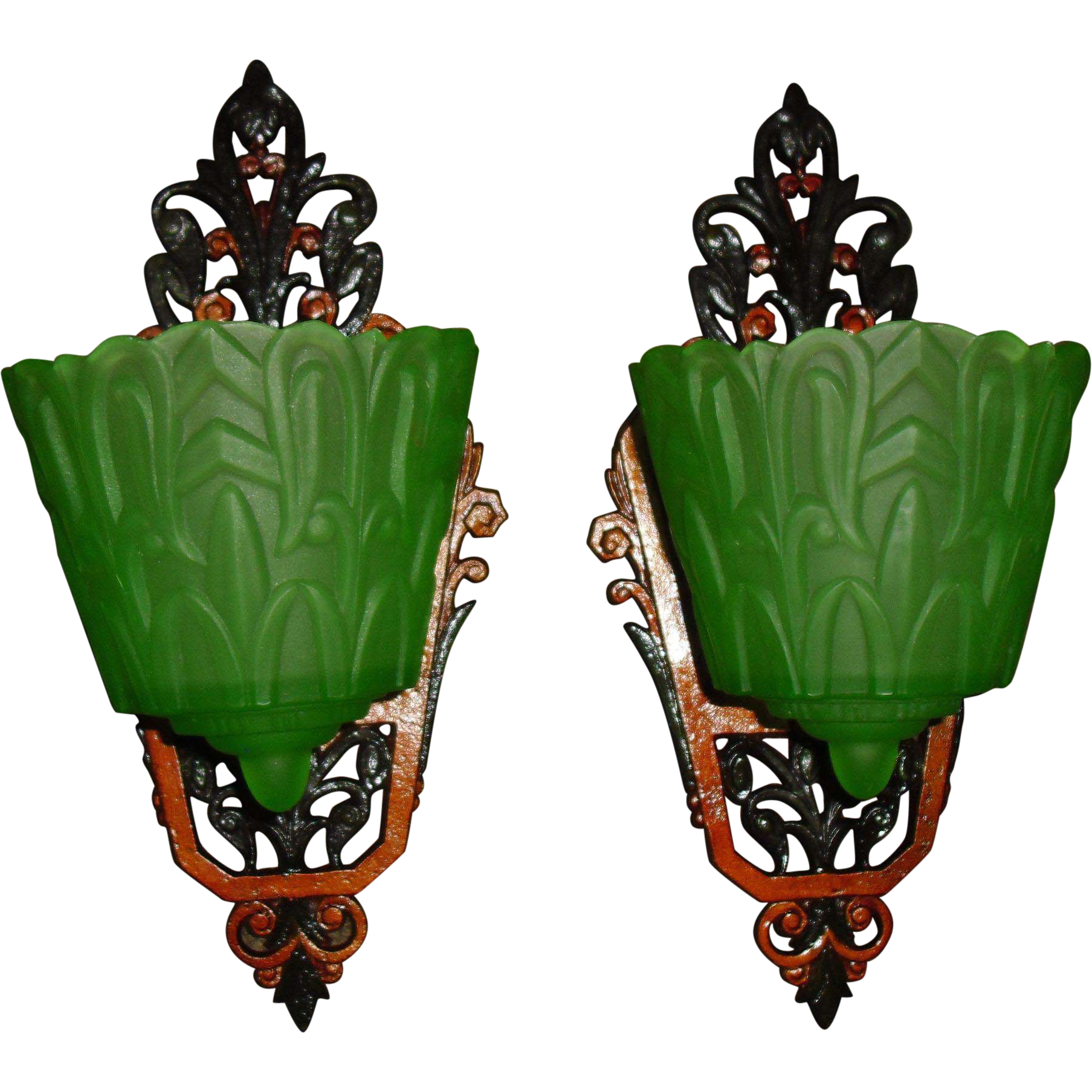 Lincoln Art Deco Slip Shade Wall Sconces