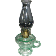 Aquarius Footed Kerosene Oil Hand Lamp / Finger Lamp